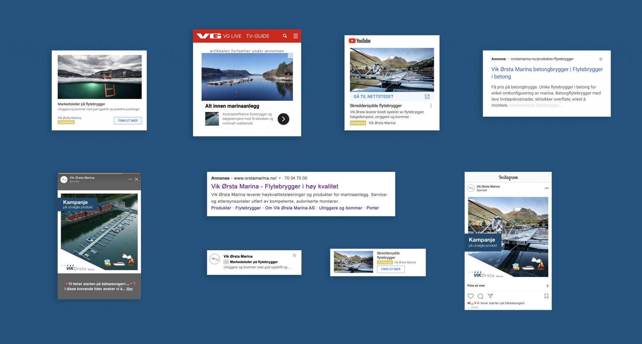 digital annonsering for vik ørsta av fantastiske osberget